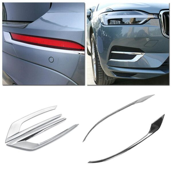 for Volvo XC60 XC 60 2018-2020 ABS Chrome Car Front Fog Light Lamp Bezel Cover Trim Exterior Garnish Car-Styling Car accessories