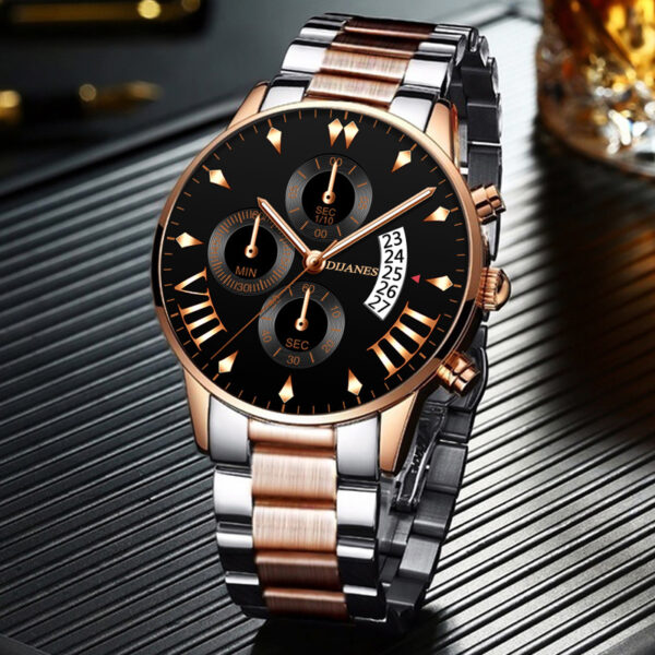 relogio masculino Men's Fashion Watches for Men Business Casual Stainless Steel Quartz Watch Date Calendar Clock montre homme Fashion Life & Accessories
