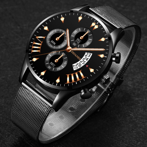 reloj hombre Fashion Mens Watches Luxury Gold Stainless Steel Mesh Belt Quartz Watch Men Business Casual Clock relogio masculino Fashion Life & Accessories Iwatch & Accessories