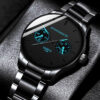 reloj hombre Luxury Mens Fashion Blue Pointer Quartz Watch Men Business Casual Black Stainless Steel Watches relogio masculino Fashion Life & Accessories Iwatch & Accessories